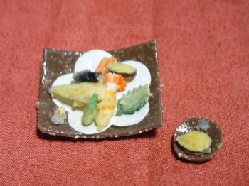 粘土で作った天婦羅