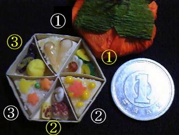 1円と比べた時の粘土弁当