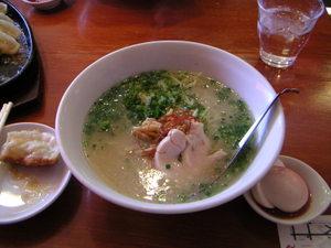 うめ玉ラーメン(塩スープ)