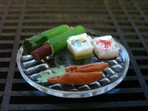 粘土で和菓子