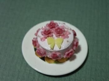 ブーケの模様のケーキ