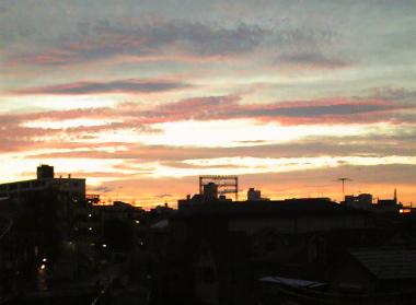 ナラリーノ地方の夕焼け